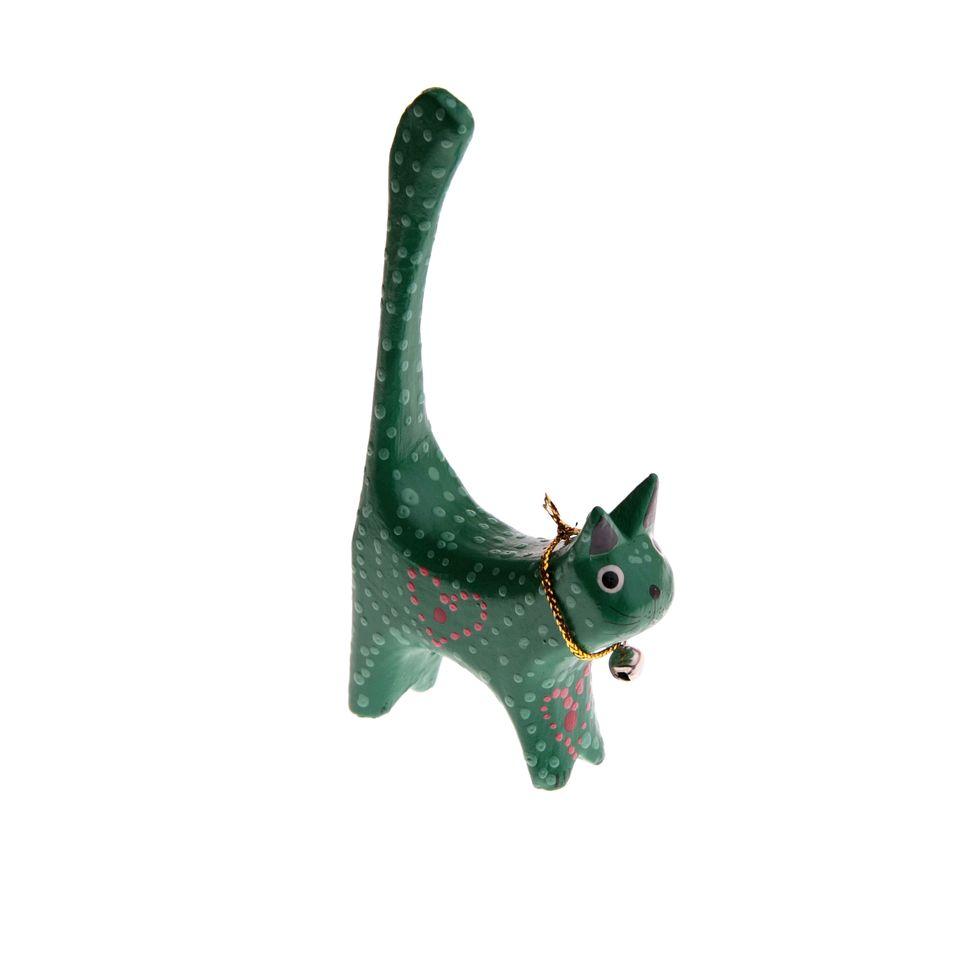 fair trade cat ring holder » £  fair trade product -  cat ring holder  green