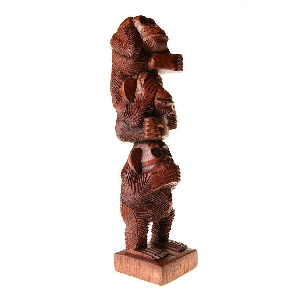 Fair Trade Three Wise Monkeys Totem Pole 187 163 21 49 Fair