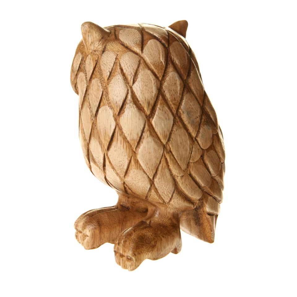 Fair trade wooden owl carving £ product