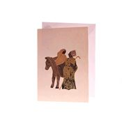 Christmas Banana Fibre Card - Mary and Joseph