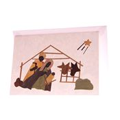 Christmas Banana Fibre Card - Stable Scene