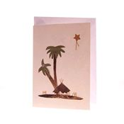 Christmas Banana Fibre Card - Palm Trees