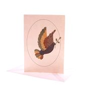 Christmas Banana Fibre Card - Dove of Peace