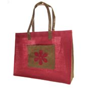 Jute Shopping Bag - Flower Design