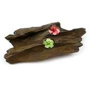 Teak Root Candle Holder - Double