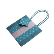 Blue and Silver Gift Bag