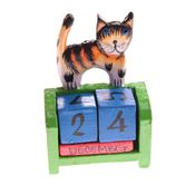Fair Trade Perpetual Cat Calendar » £2.99 - Fair Trade Stationery