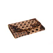 Large Batik Purse - Black and Brown