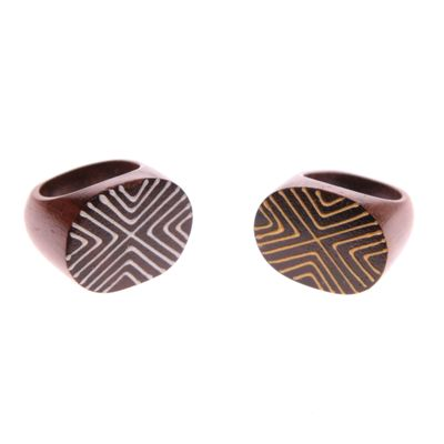 Fair Trade Wooden Abstract  Ring » £2.59 - Fair Trade Jewellery