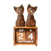 Perpetual Twin Cat Calendar