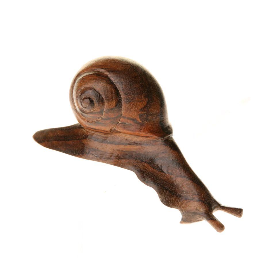 Fair trade wooden shelf snail £ product