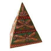 Pyramid Jewellery Trinket Box - Green