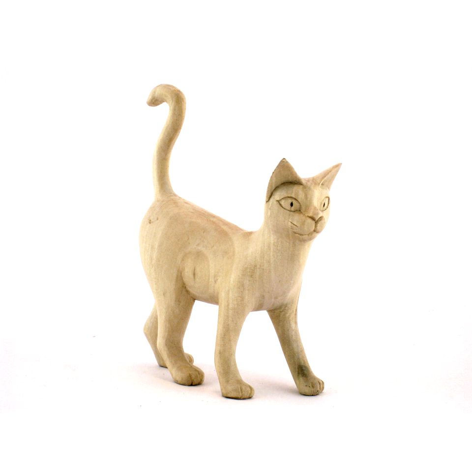 Fair Trade Carved Wooden Walking Cat 187 163 7 99 Fair Trade