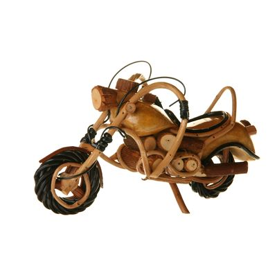Fair Trade Wooden Motorbike Model 2 » £14.99 - Fair Trade Fathers Day Gifts